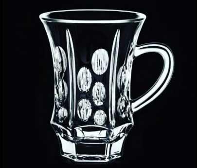 فنجان کریستال ایرنا طرحپراگ