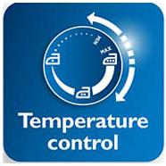 قابلیت تنظیم حرارت برای انواع البسه در اتو فیلیپس مدل GC1433
